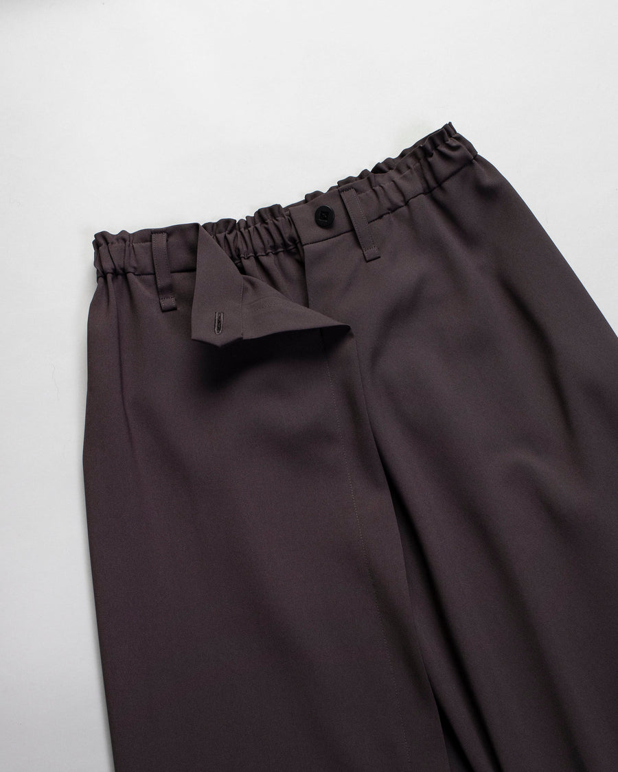 draped front trousers