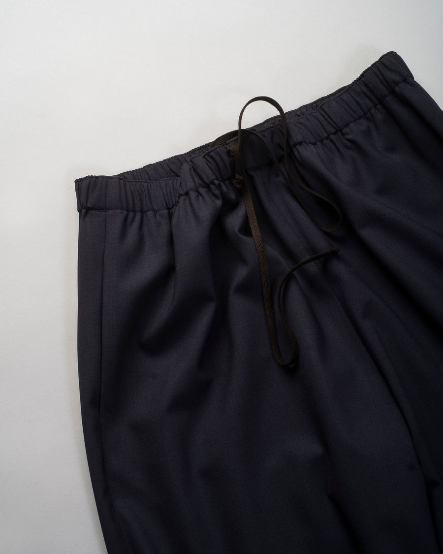 6397, PANTS, NP124, WIDE, LEG, PULL, ON, TROUSER, PULL-ON, ANKLE, CROP, WOOL, ELASTANE, DRAWSTRING, NAVY,