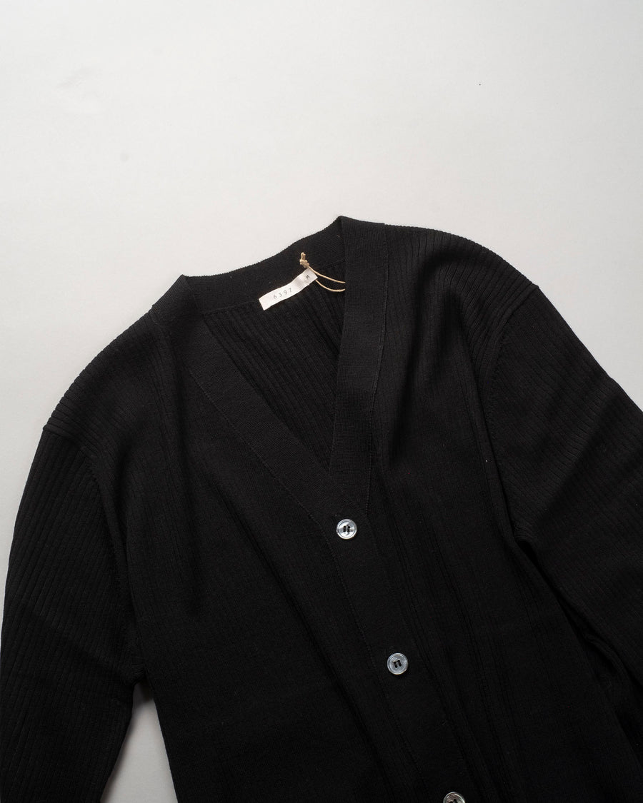 6397, SWEATER, NSW227, MERINO, WOOL, POOR, BOY, RIB, CARDI, CARDIGAN, WOMEN'S, NOODLE, STORIES, BLACK,