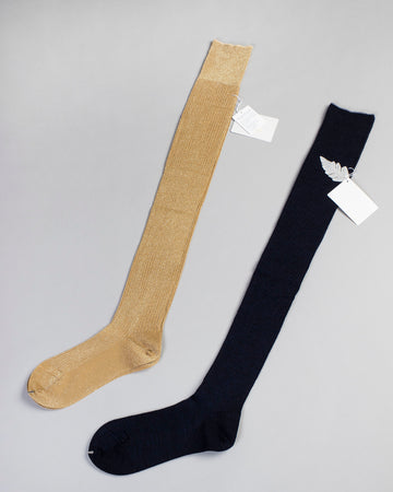 lurex over the knee socks