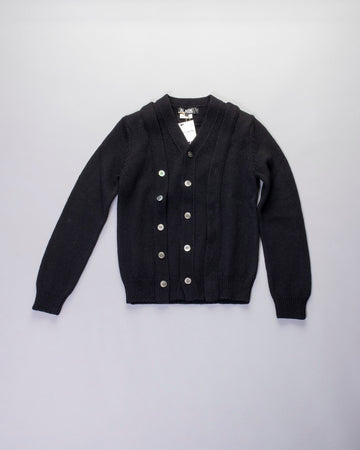 doubled placket cardigan