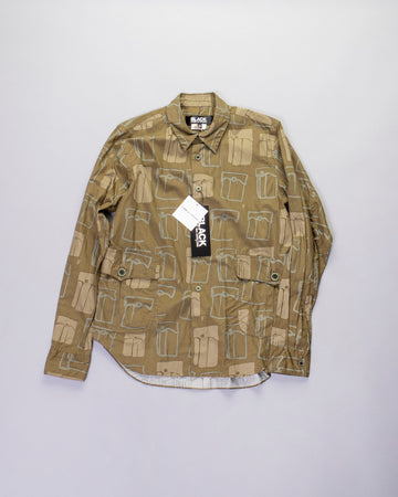 printed patch pocket shirt