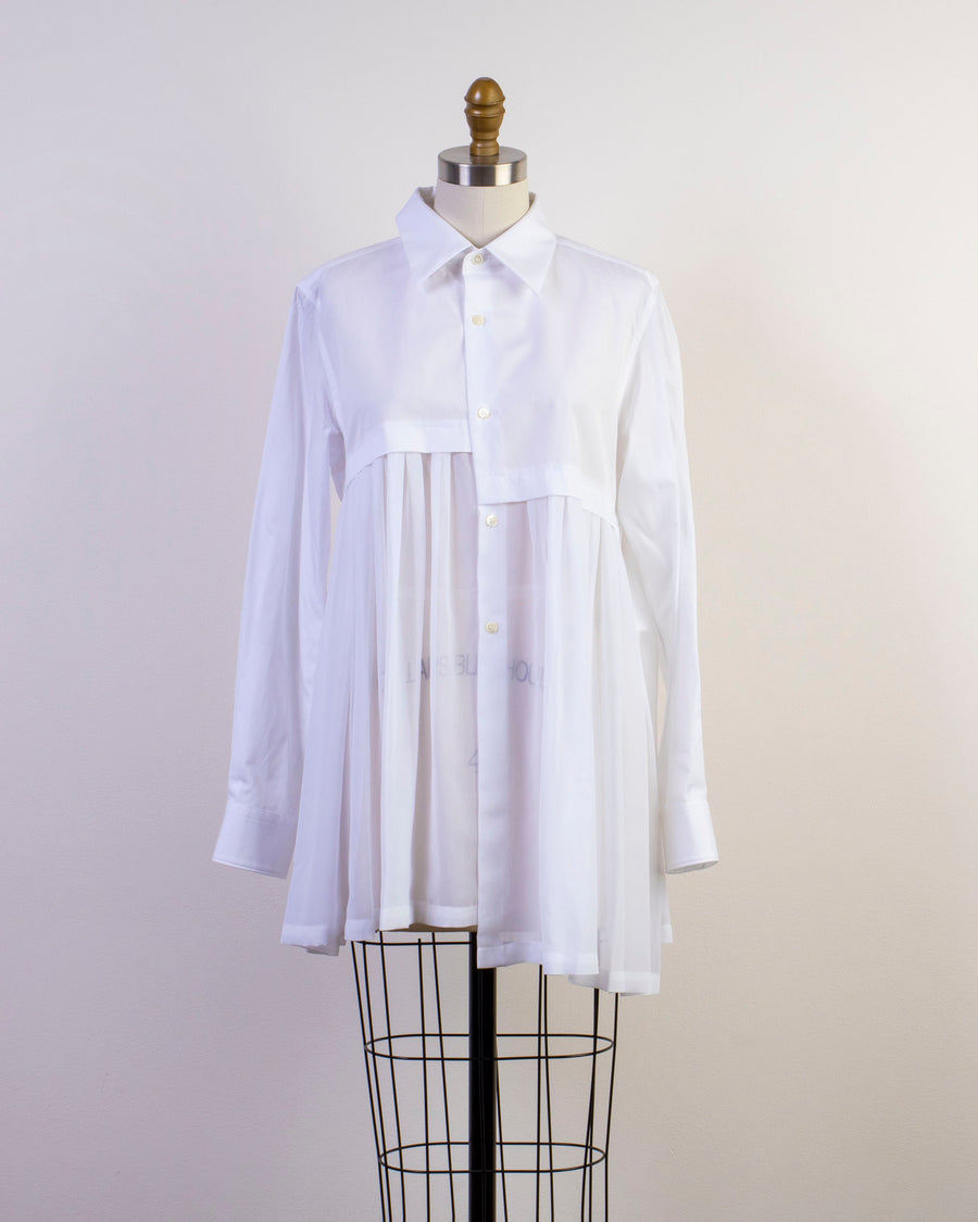 shirred panel blouse