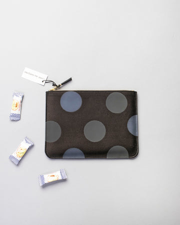 rubber dot zip top pouch