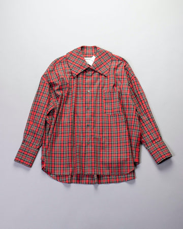 oversized tartan plaid shirt