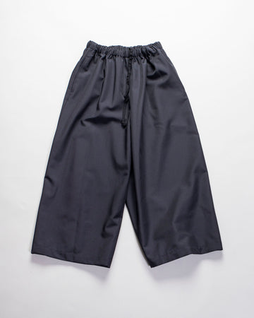 COMME DES GARCONS COMME DES GARCONS, CDG, CDG, WOMENS, WOMEN'S, RF-P006-051, POLY, POLYESTER, DRAWSTRING, PULL, ON, PULL-ON, ELASTIC, ENCASED, ELASTICATED, ANKLE, CROP, TROUSER, PANT, NAVY, TWILL,