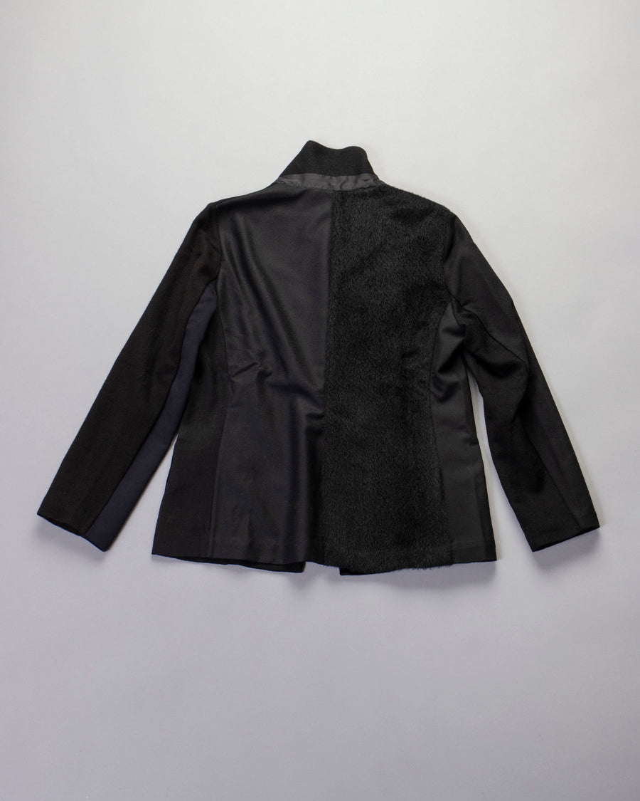 patchwork riding jacket