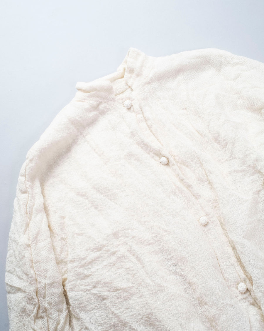 DANIELA, GREGIS, JACKET, G180BW, CREAM, REVERSIBLE, WASHED, WOOL, BUTTON, PANNA, PEPLUM, GATHERED, GIACCA, LUGLIO, CICORIA, LAVATA, GAUZE,