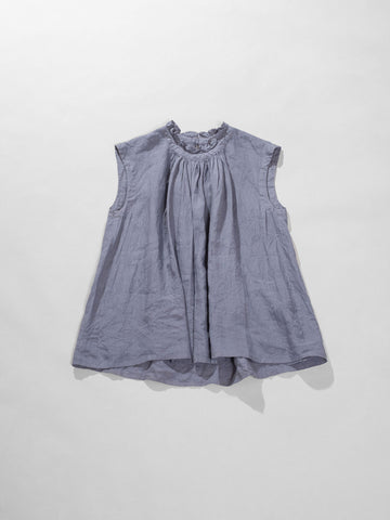 sleeveless gathered top