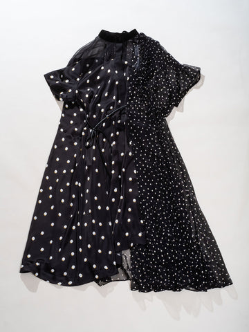 patchwork polka dot dress