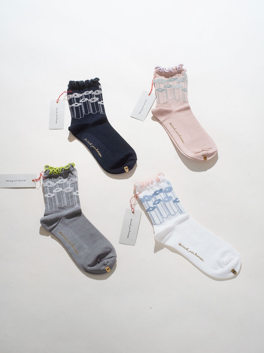flower step socks
