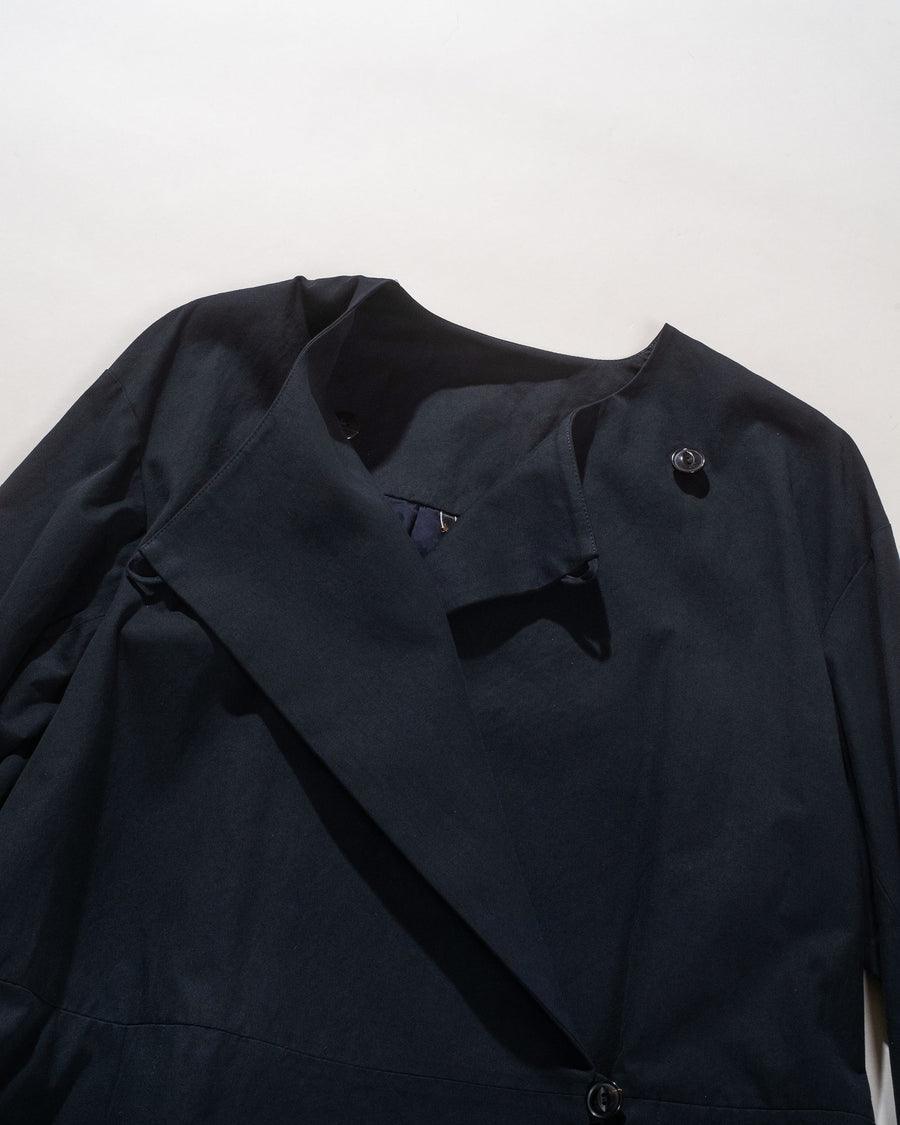 arts & science women's gathered back jacket in dark navy | noodle stories