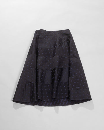polka dot jacquard skirt