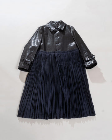 pleat skirt coat