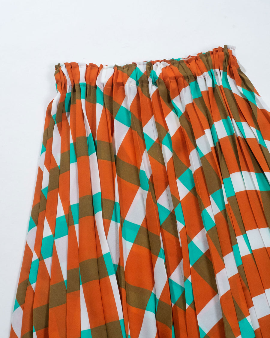 parasol pleats skirt