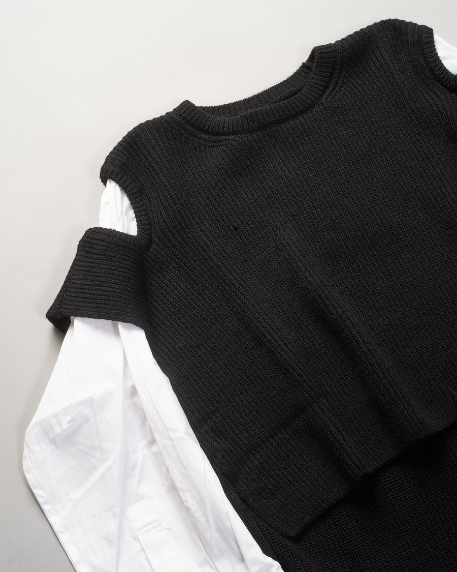 attached sleeve sweater