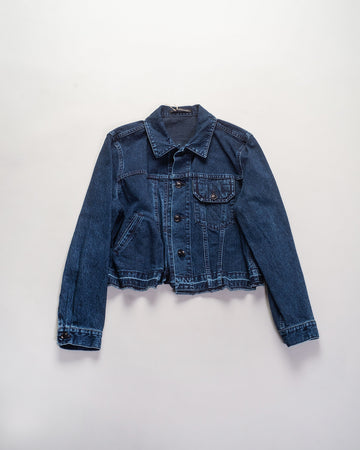 asymmetric denim jacket