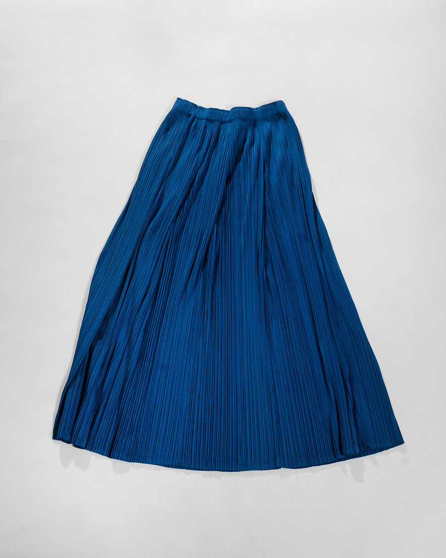 pleated ankle skirt