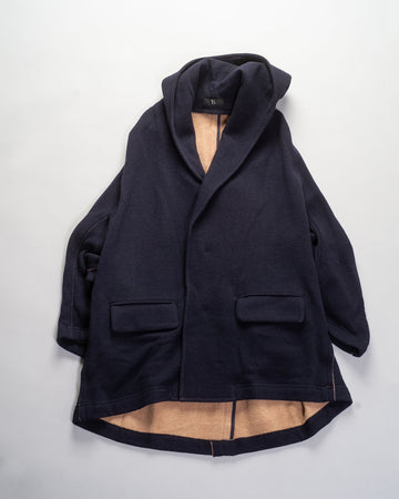 u-fringe hooded coat