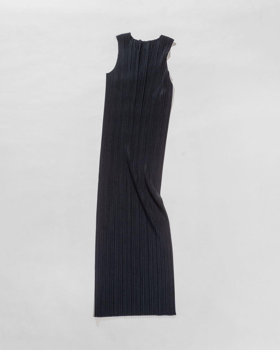 pleated column dress