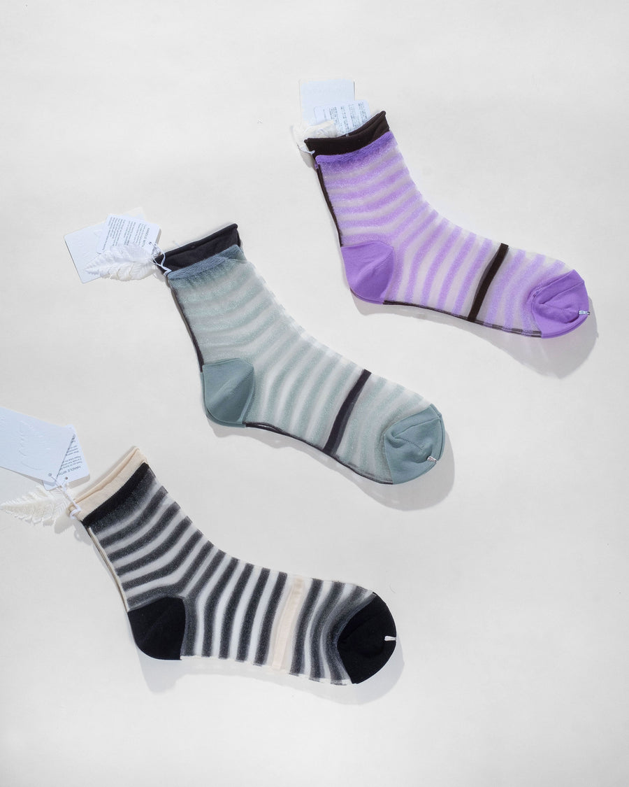 crossed stripe socks