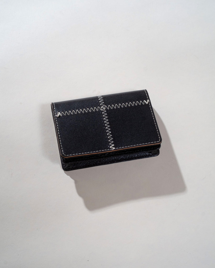 patchwork leather card case