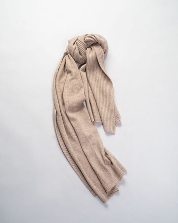 F280 paychi guh women's women mongolian cashmere textured scarf rib half cardigan shawl toast beige oatmeal | noodle stories F280 paychi guh women's women mongolian cashmere textured scarf rib half cardigan shawl toast beige oatmeal | noodle stories