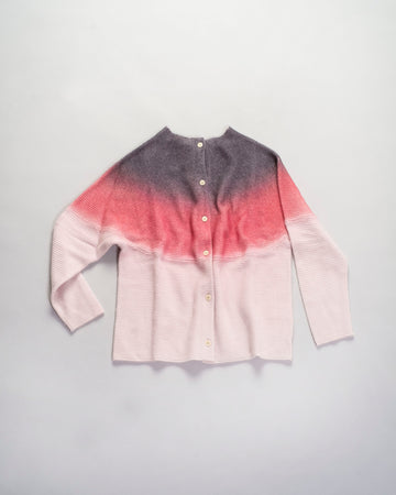 spray dyed cashmere cardigan