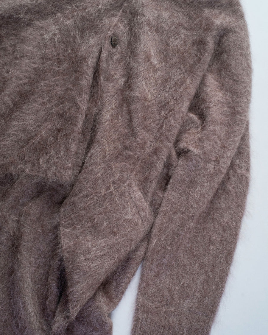 brushed cashmere cocoon cardigan