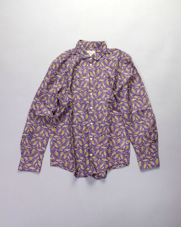 leaf print corazon shirt