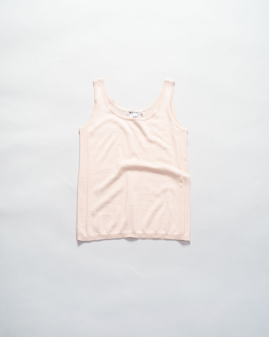 paychi guh cashmere tank in nude | noodle stories