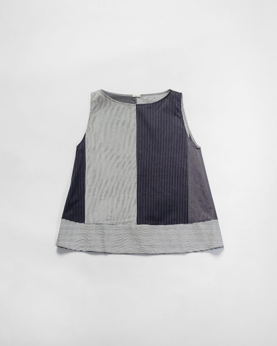 pieced stripe top