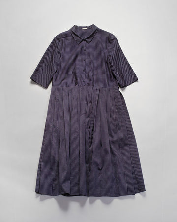 apuntob striped shirtdress navy blue stripe dress noodle stories