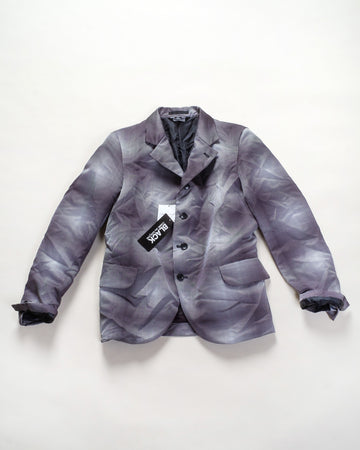 optic print blazer