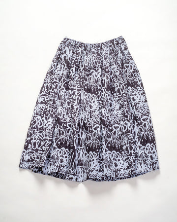 scribble printed skirt