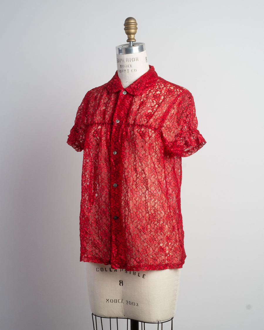 collared lace shirt