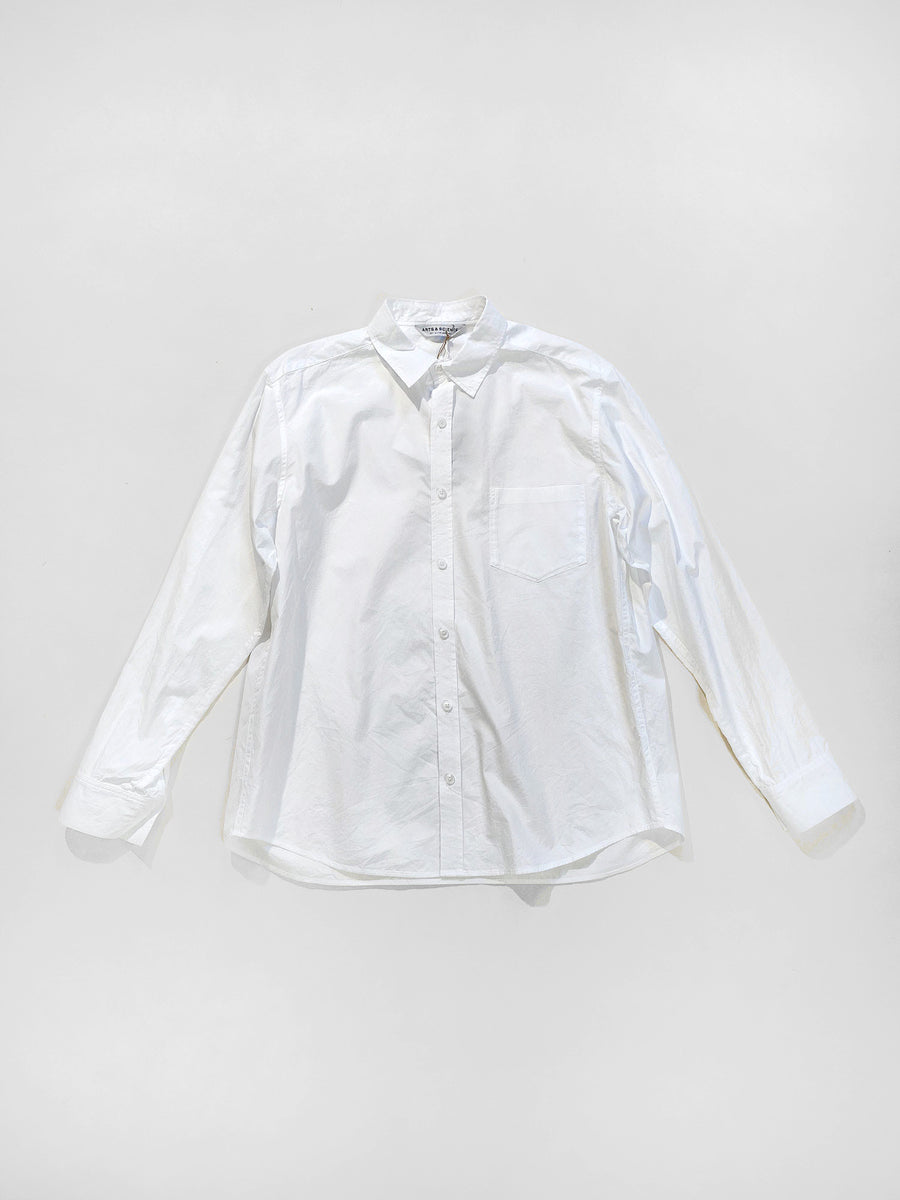 arts & science women's standard shirt in white | noodle stories