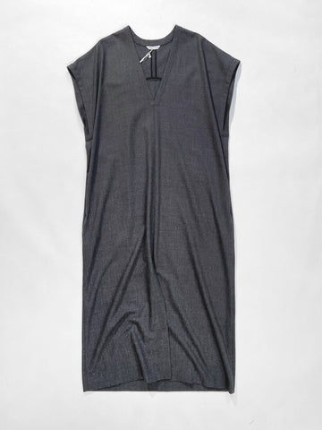front slit v-neck dress