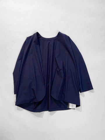 arts & science women's wool short woven robe in navy | noodle stories