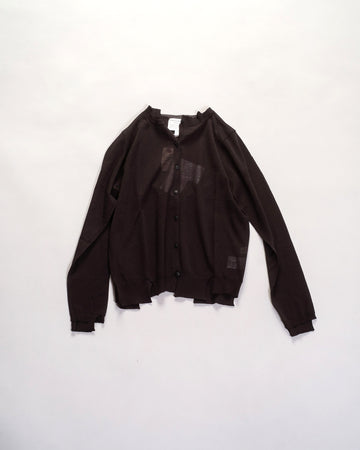 antipast rib mix cardigan black noodle stories