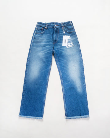 frayed edge jeans