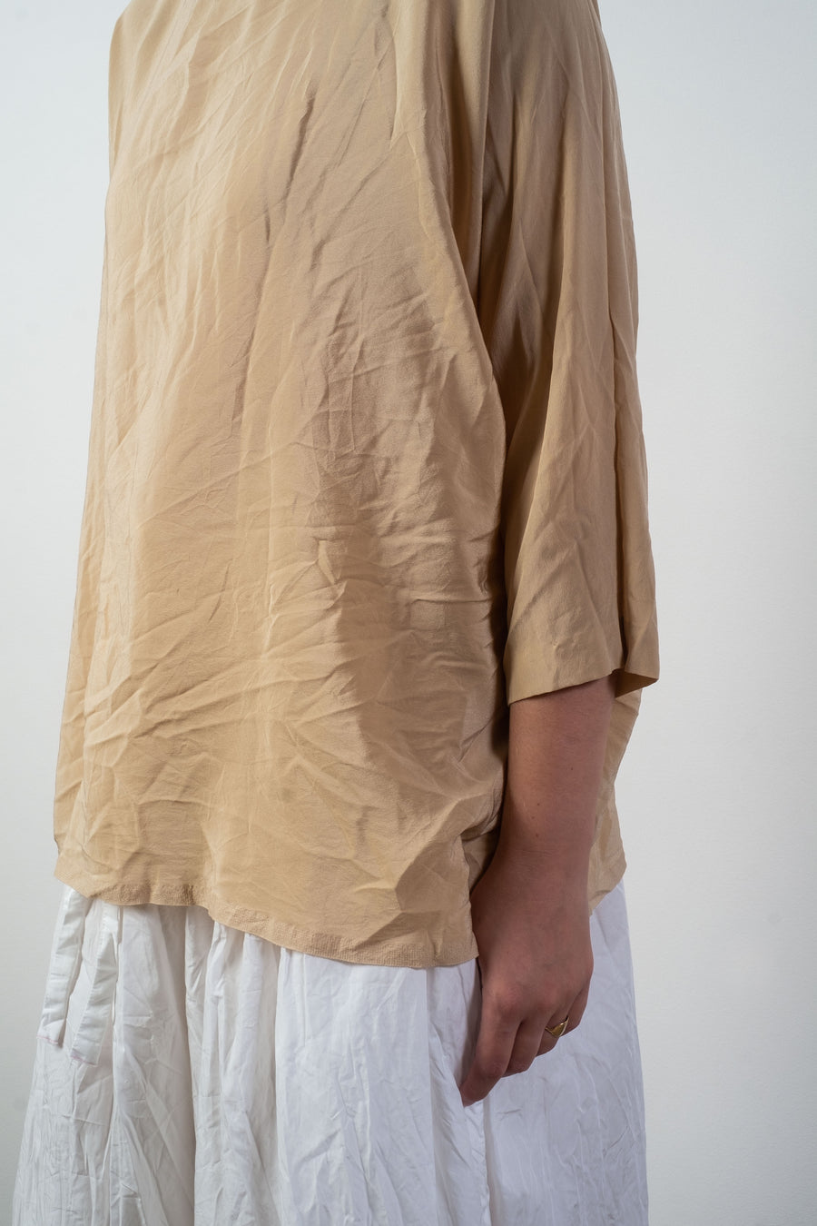 daniela gregis washed silk top noodle stories