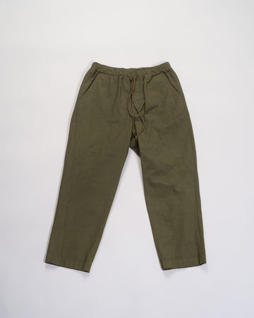 cotton drawstring tapered pants