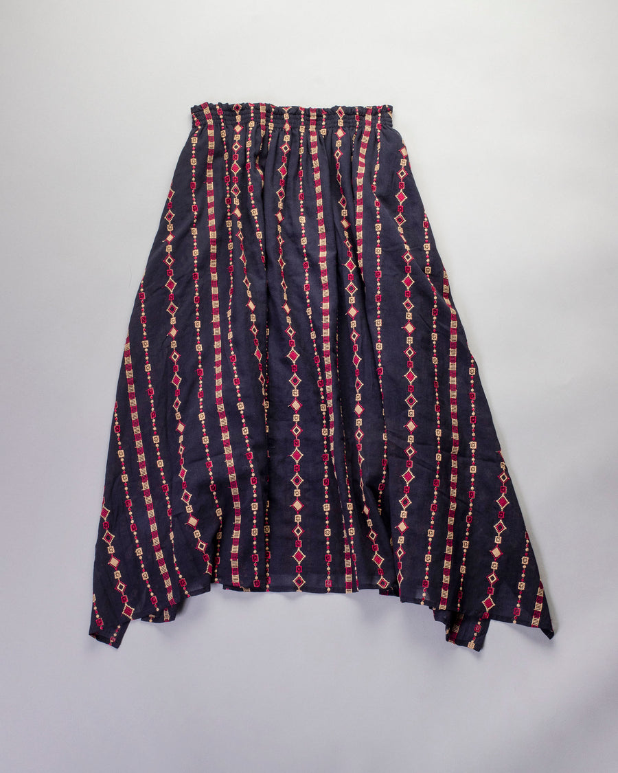 embroidered fabric skirt