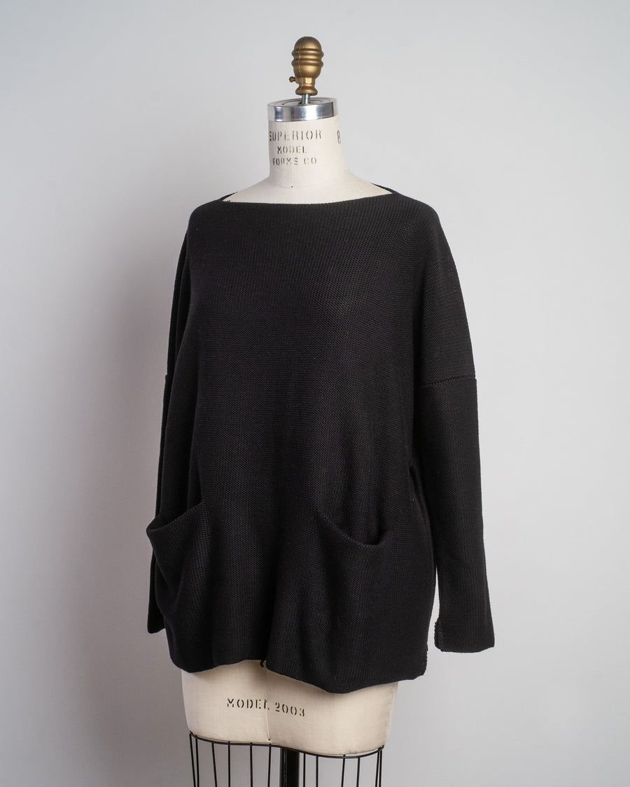 daniela gregis boatneck pocket sweater