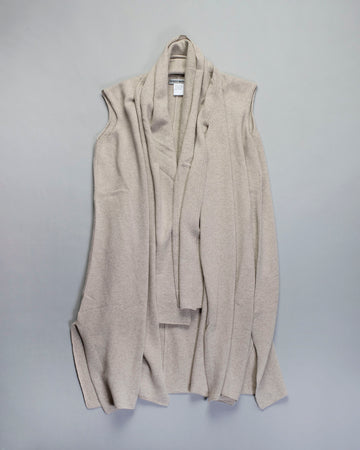 sleeveless shawl cardigan