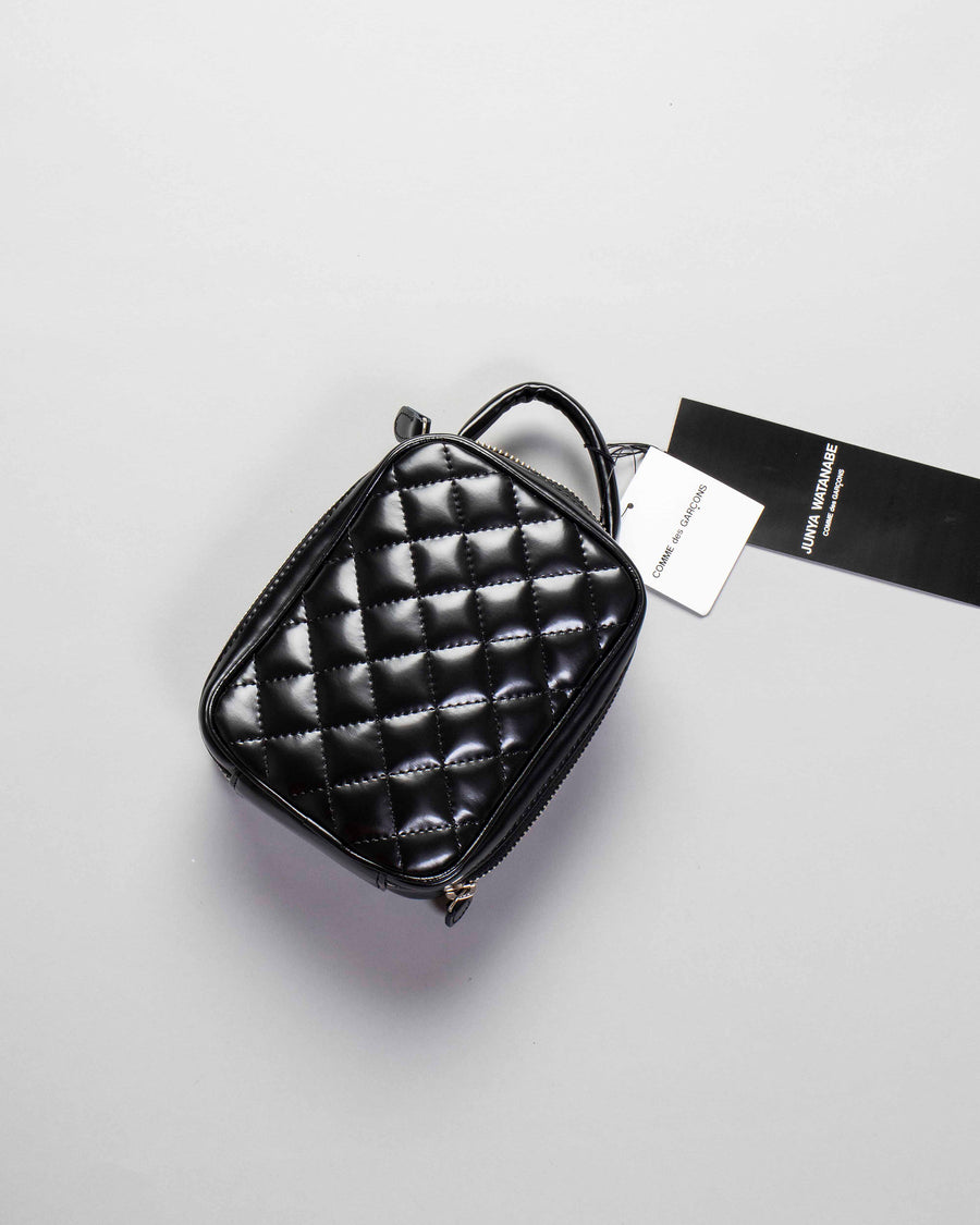 quilted top handle bag