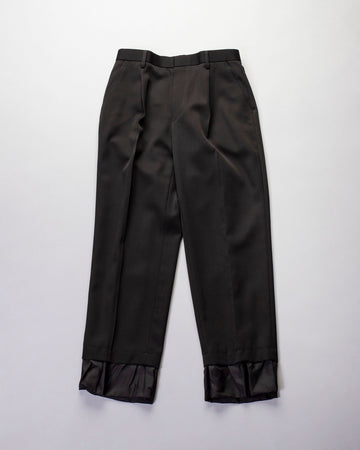 flounce cuff trousers