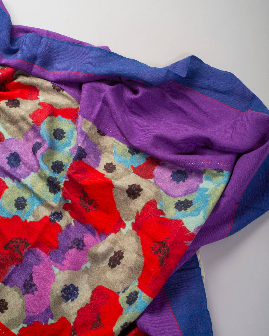 pieced floral scarf