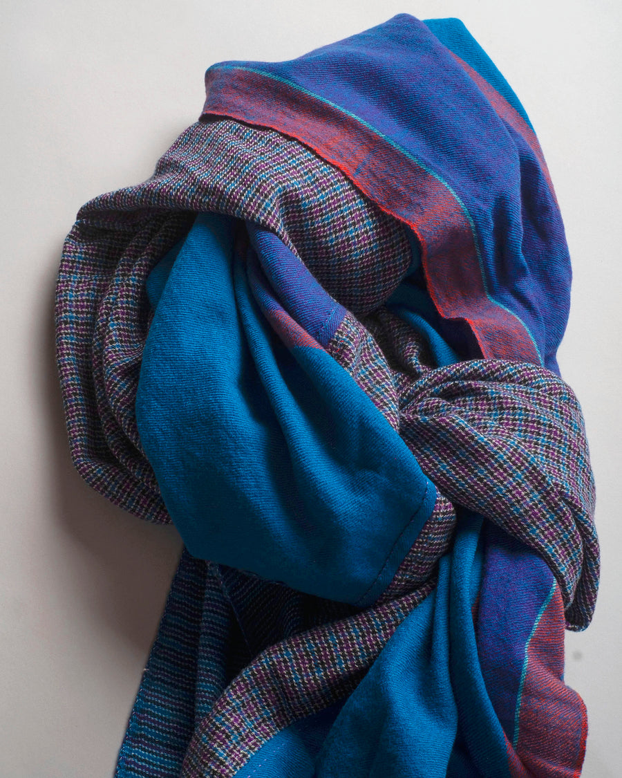 pieced plaid scarf